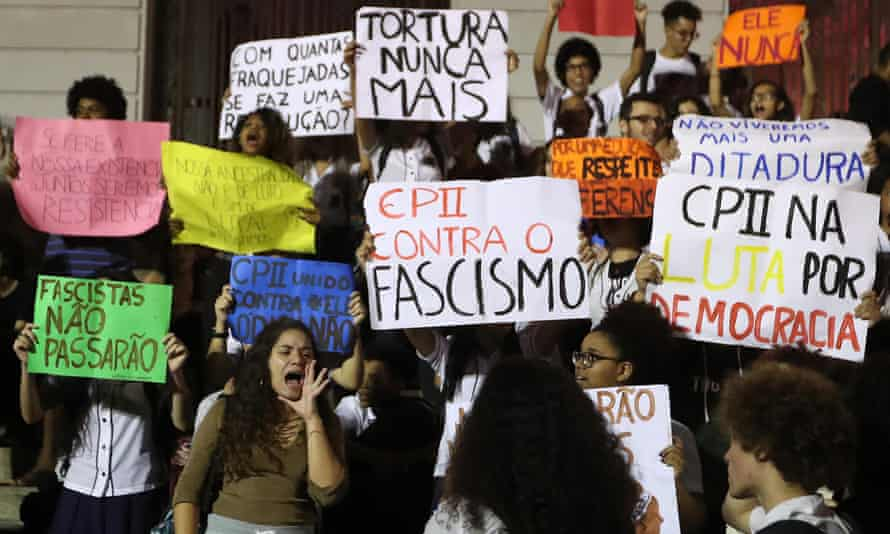 Brazilians protest against Bolsonaro and demand respect for democracy on Tuesday.