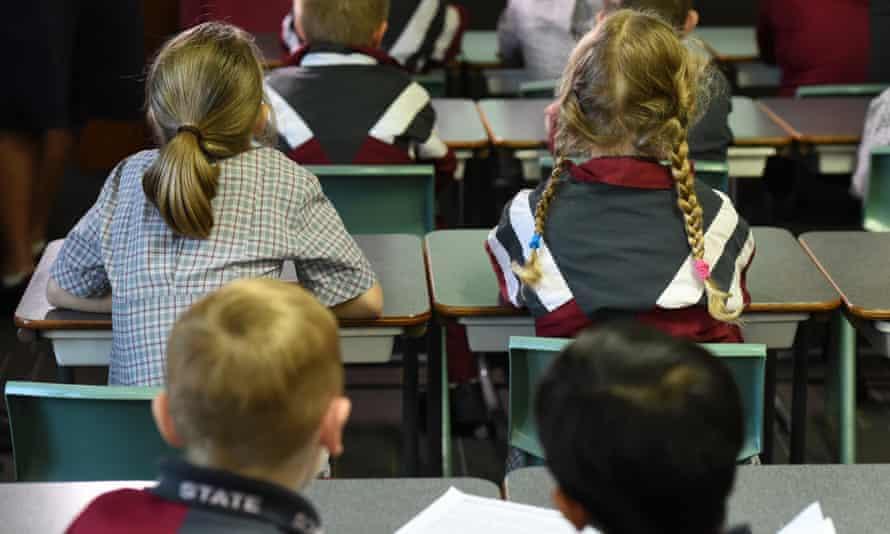 Children in a schoolroom