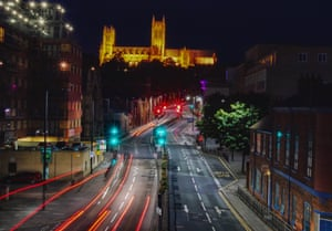 Kyle Wood – Lincoln CathedralA long exposure light trail shot of Lincoln Cathedral