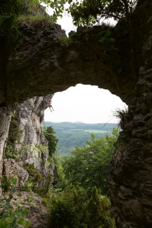 Frankenjura in southern Germany, famous for short powerful climbs, such as the Devil's Crack