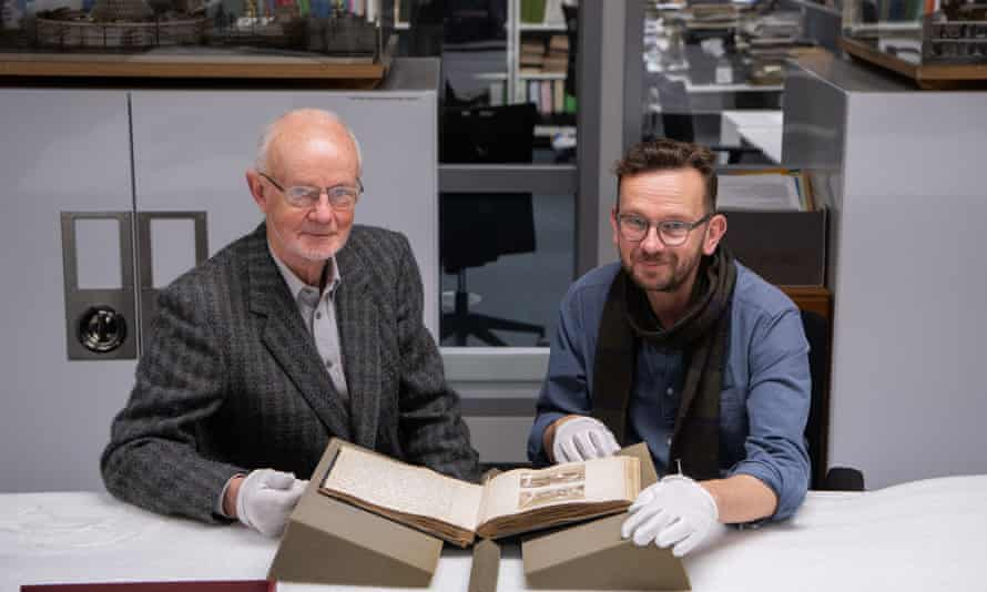 Mark Walker and Dan Hicks photographed at the Pitt Rivers Museum in Oxford.