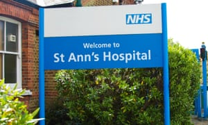 St Ann's hospital sign