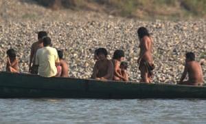 The Mashco Piro, along their side of the Madre de Dios river.
