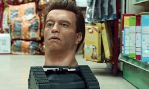 Animatronic head of Arnold Schwarzenegger from PPI ad campaign