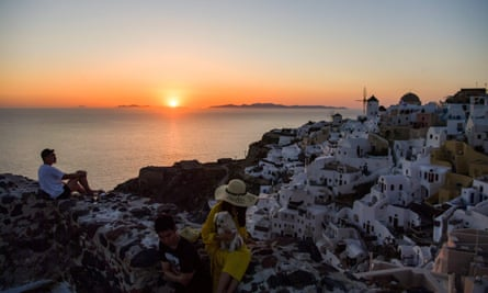 Islands such as Santorini were considered most likely to sell out first, according to Olympic Holidays.