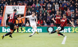 Ashley Barnes scores at the right end.