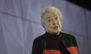 Google Inc Offers Free Digital Training To All U.K. Residents<br>Dame Stephanie Shirley speaks during an event at Google's Kings Cross office in London, U.K., on Tuesday, Nov. 15, 2016. After being criticized for not paying its fair share of British tax, Alphabet Inc.s Google unit is trying to show its a good corporate citizen by offering five hours of free digital skills training to all U.K. residents. Photographer: Simon Dawson/Bloomberg via Getty Images