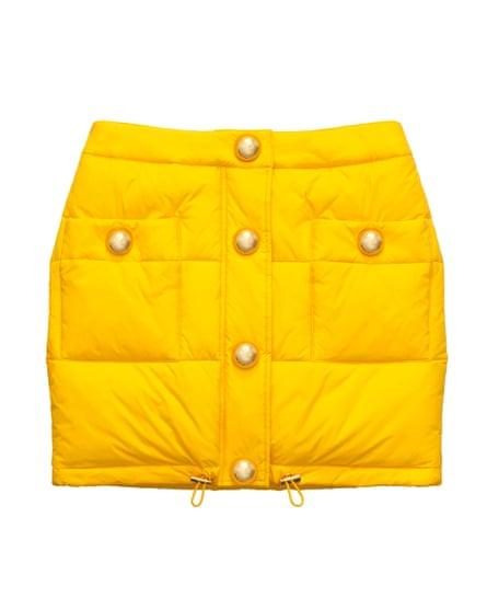 MOSCHINO x H&M, padded skirt, £59.99.