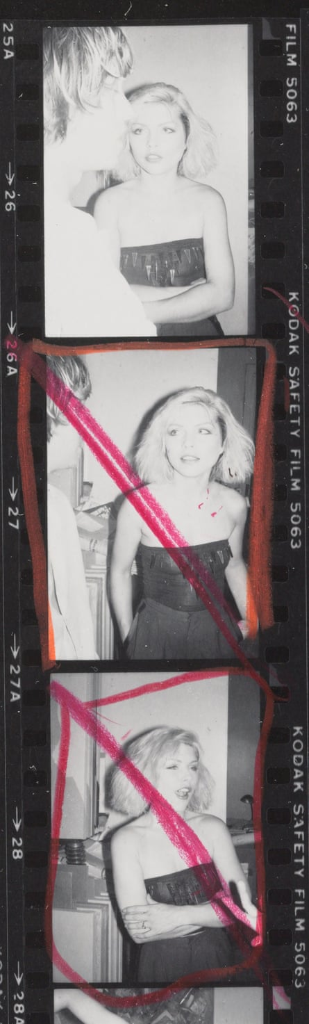 Debbie Harry photographed by Warhol in 1980.
