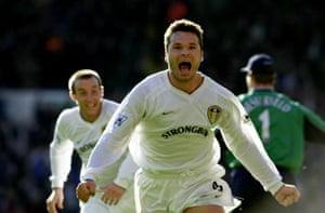 Mark Viduka scoring at Anfield.