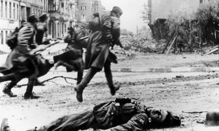 Street fighting in Berlin during the battle to gain control of the German capital in April 1945