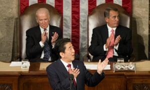 Shinzo Abe in US Congress