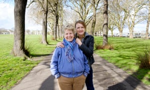 With Debbie Toksvig, her wife. They married in 2014.