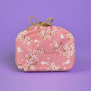 Pink Sakura bento box bag