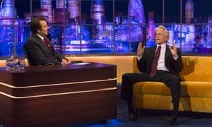 Jonathan Ross with Michael Douglas on The Jonathan Ross Show