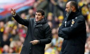Watford manager Javi Gracia directs his players