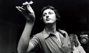 Eric Bristow, aged 21, practising at the 1978 British Open