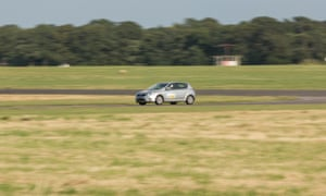 'Star in a Reasonably Priced Car' challenge at the Top Gear Experience at the Dunsfold Park circuit in Surrey.