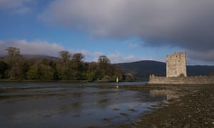 Narrow Water Castle, between Co Down in Northern Ireland and Co Louth in the south. The border runs along the river.