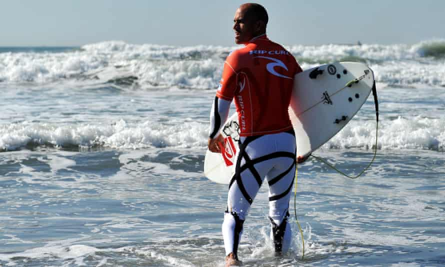 Surfer Kelly Slater wears Rip Curl while competing in San Francisco in 2011.