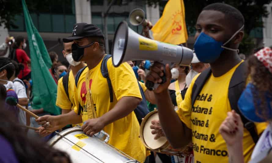 Demonstration in Rio de Janiero against President Bolsanaro