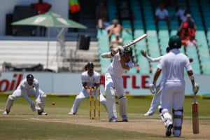 Stuart Broad's delivery thuds off the front pad of Morne Morkel ...