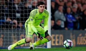 Thibaut Courtois was ruled out of Chelsea's Premier League defeat at Manchester United after twisting his ankle in an event organised by Chelsea with the NBA.