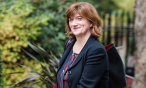 Nicky Morgan arrives for the Cabinet meeting at 10 Downing Street on 16 October 2019