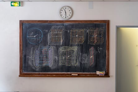 The blackboard of Amie Wilkinson, University of Chicago.