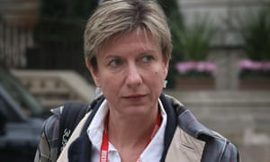 Liz MacKean arriving for work at Broadcasting House. London, in 2012.