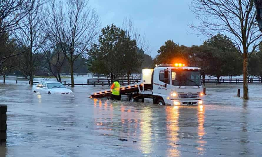 Flooding in Traralgon, in the Gippsland region of Victoria.