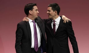 Ed Miliband (left) with his brother, David, in 2010.