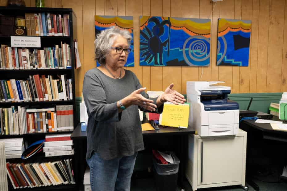 Rena Martin, a Navajo archaeologist and ethnographer, at the office of Dinétahdóó Cultural Resources Management, a Navajo consulting firm she founded to preserve tribal history, culture and the environment.