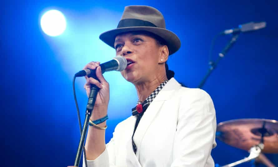 Pauline Black performing in 2010. She donated a number of items to the exhibition, including her trilby hat.