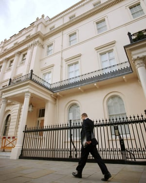 Belgrave Square in London, now known as 'Red Square' because of the number of Russian oligarchs who live there.