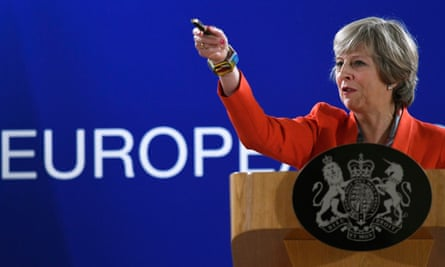 Prime Minister Theresa May attends the second day of an European Union leaders summit in Brussels.