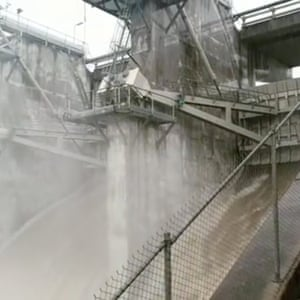 Ross River dam releases water