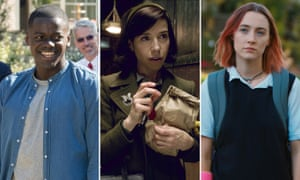 Daniel Kaluuya in Get Out, Sally Hawkins in The Shape of Water and Saoirse Ronan in Lady Bird.