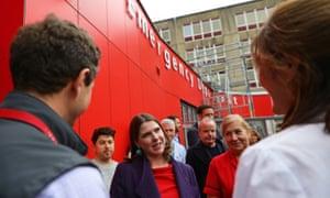 Jo Swinson visiting the children's emergency department at University Hospital Southampton.