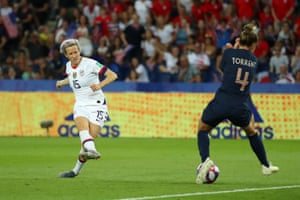 Megan Rapinoe scores her second goal for USA.