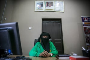 Aisha Wakil in her office in Maiduguri in April 2019.