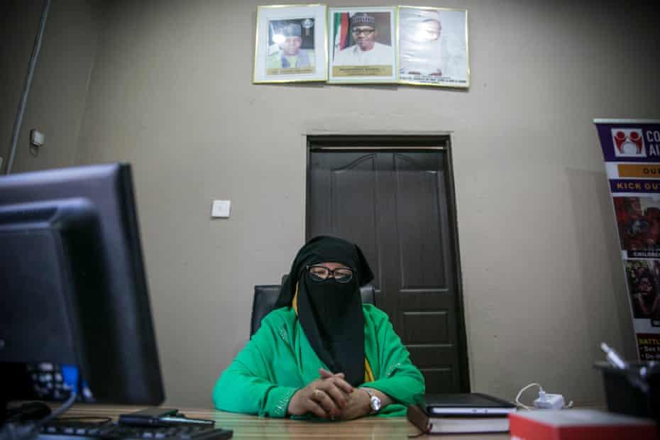 Aisha Wakil in her office in Maiduguri in April 2019.