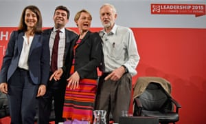 Labours candidates for leader and deputy leader Liz Kendall, Andy Burnham, Yvette Cooper and Jeremy Corbyn