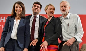 The four Labour leadership candidates: Liz Kendall, Andy Burnham, Yvette Cooper and Jeremy Corbyn