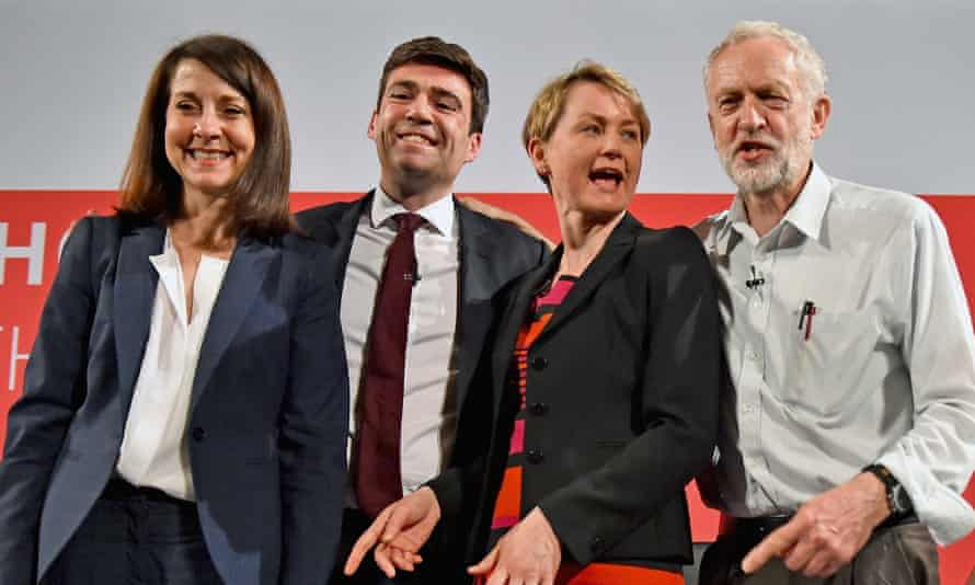 Representatives of (left to right) Liz Kendall, Andy Burnham, Yvette Cooper and Jeremy Corbyn were called to party HQ.
