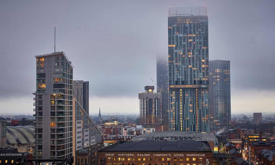View from 125 Deansgate Looking down Deansgate