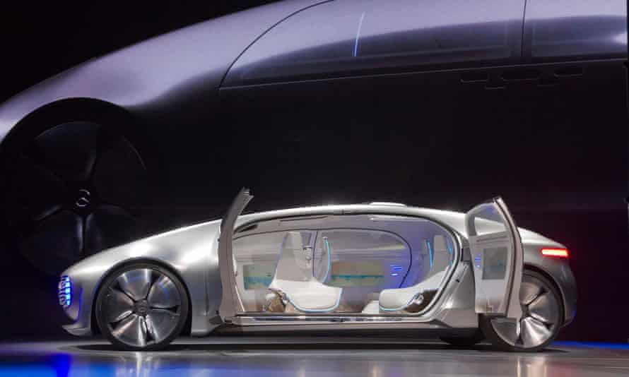 Self-driving futuristic Mercedes-Benz F 015 concept