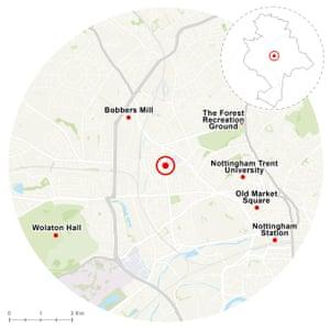 Nottingham's real centre lies close to St Peter's Park