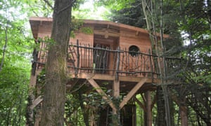 One of the new forest treehouses for family accommodation