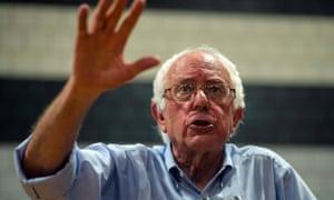 Democrat Bernie Sanders speaks in New Hampshire.